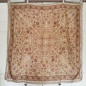 🇮🇳 Vintage scarf 100% silk made in India